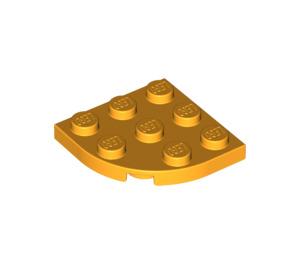 LEGO Bright Light Orange Plate 3 x 3 Corner Round (30357)