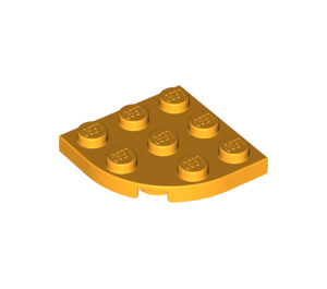 LEGO Bright Light Orange Plate 3 x 3 Round Corner (30357)