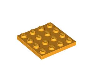 LEGO Bright Light Orange Plate 4 x 4 (3031)