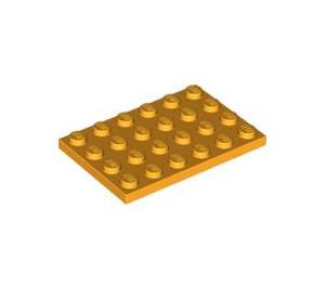 LEGO Bright Light Orange Plate 4 x 6 (3032)