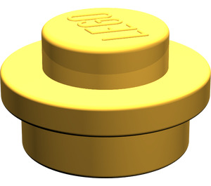 LEGO Bright Light Orange Round Plate 1 x 1