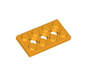 LEGO Bright Light Orange Technic Plate 2 x 4 with Holes (3709)