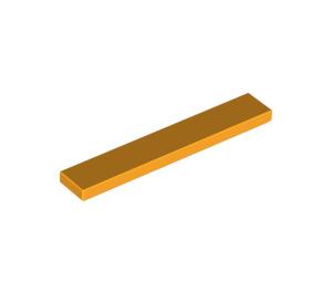 LEGO Bright Light Orange Tile 1 x 6 (6636)