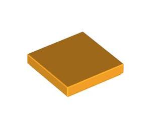 LEGO Bright Light Orange Tile 2 x 2 with Groove (3068)