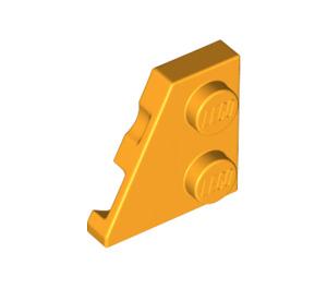 LEGO Bright Light Orange Wedge Plate 2 x 2 (27°) Left (24299)