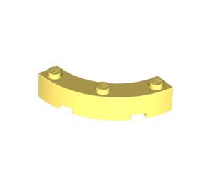 LEGO Bright Light Yellow Brick Corner 4 x 4 (Wide with 3 Studs) (48092)