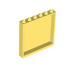 LEGO Bright Light Yellow Panel 1 x 6 x 5 (59349)