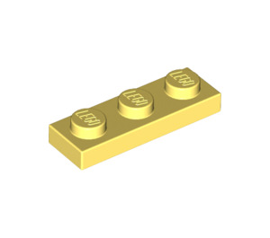 LEGO Bright Light Yellow Plate 1 x 3 (3623)
