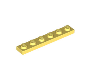 LEGO Bright Light Yellow Plate 1 x 6 (3666)