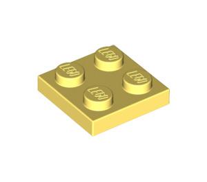 LEGO Bright Light Yellow Plate 2 x 2 (3022)