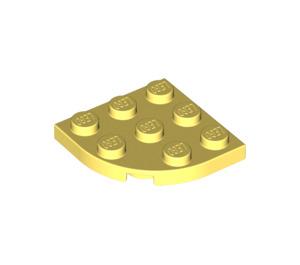 LEGO Bright Light Yellow Plate 3 x 3 Corner Round (30357)