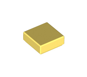 LEGO Bright Light Yellow Tile 1 x 1 with Groove (3070)