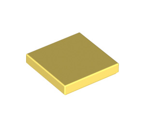 LEGO Bright Light Yellow Tile 2 x 2 with Groove (3068)
