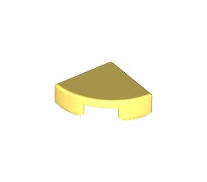LEGO Bright Light Yellow Tile Quarter Circle 1 x 1 (25269)