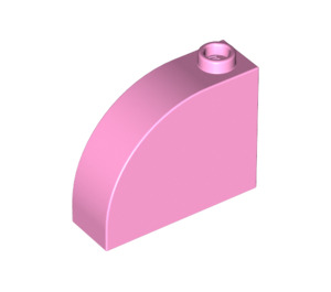 LEGO Bright Pink Brick 1 x 3 x 2 Curved Top (33243)