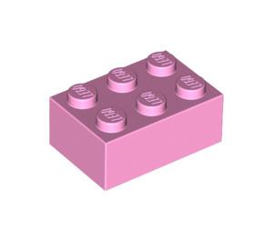 LEGO Bright Pink Brick 2 x 3 (3002)