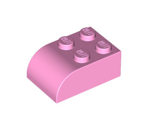 LEGO Bright Pink Brick 2 x 3 with Curved Top (6215)