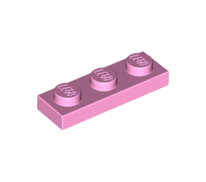 LEGO Bright Pink Plate 1 x 3 (3623)