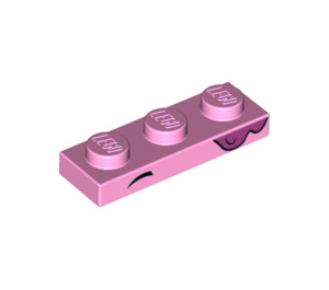 LEGO Bright Pink Plate 1 x 3 with Decoration (39426)