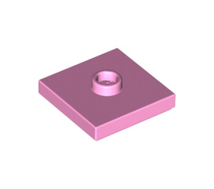 LEGO Bright Pink Plate 2 x 2 with Groove and 1 Center Stud (23893)