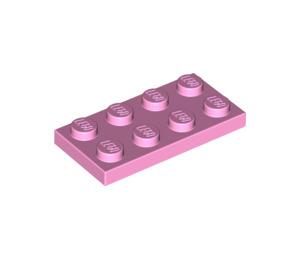 LEGO Leuchtend Rosa Platte 2 x 4 (3020)