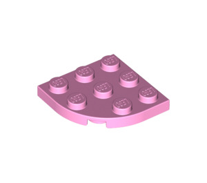 LEGO Bright Pink Plate 3 x 3 Corner Round (30357)