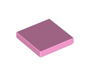 LEGO Bright Pink Tile 2 x 2 with Groove (3068)