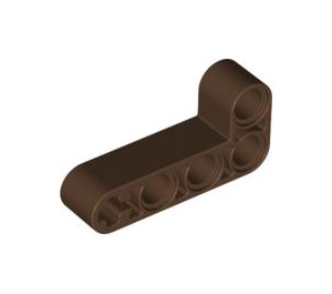 LEGO Brown Beam 2 x 4 Bent 90 Degrees, 2 and 4 holes (32140)