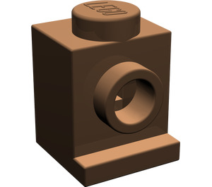LEGO Brown Brick 1 x 1 with Headlight and No Slot (4070)