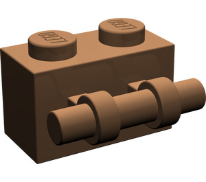 LEGO Brown Brick 1 x 2 with Handle (30236)