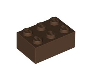 LEGO Brown Brick 2 x 3 (3002)