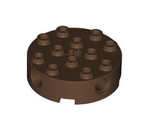 LEGO Brown Brick 4 x 4 Round with Holes (6222)