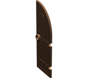 LEGO Brown Door 1 x 3 x 6 with 1/4 Circle Top (2554)