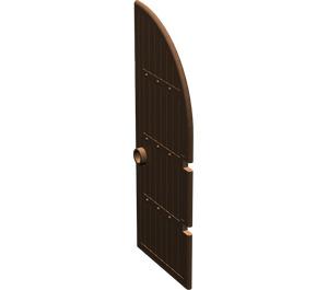 LEGO Brown Door 1 x 4 x 8 with 1/4 Circle Top