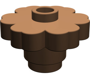 LEGO Brown Flower 2 x 2 with Open Stud (4728)