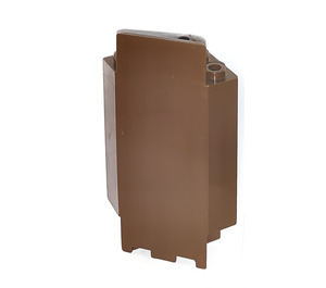 LEGO Brown Panel Wall 3 x 3 x 6 Corner with Bottom Indentations (2345)