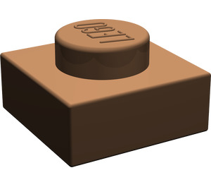 LEGO Brown Plate 1 x 1 (3024)