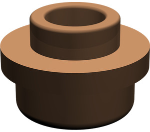 LEGO Brown Plate 1 x 1 Round with Open Stud