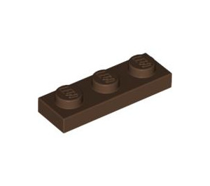 LEGO Brown Plate 1 x 3 (3623)