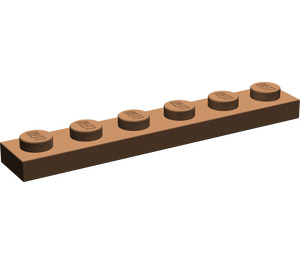 LEGO Brown Plate 1 x 6 (3666)