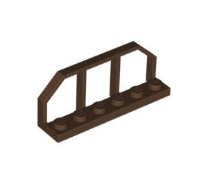 LEGO Brown Plate 1 x 6 with Train Wagon End (6583)