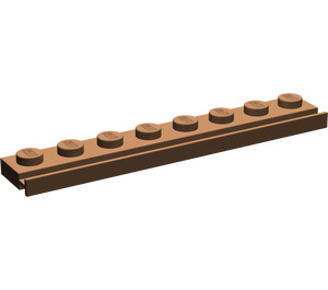 LEGO Brown Plate 1 x 8 with Door Rail (4510)