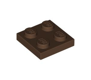 LEGO Brown Plate 2 x 2 (3022)