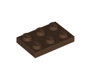 LEGO Brown Plate 2 x 3 (3021)