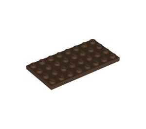LEGO Brown Plate 4 x 8 (3035)