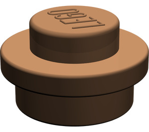 LEGO Brown Round Plate 1 x 1 (6141)