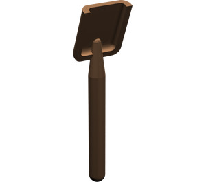 LEGO Brown Shovel (Round Stem End) (3837)