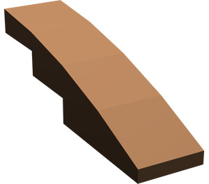 LEGO Brown Slope 1 x 4 Curved