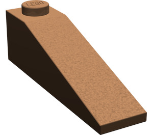 LEGO Brown Slope 1 x 4 x 1 (18°)
