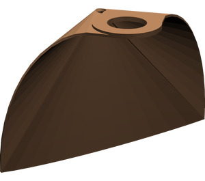 LEGO Brown Standard Cape with Regular Starched Texture (901)